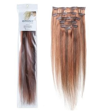 7A Unprocessed Human Hair Weft, Virgin Brazilian Hair Remy Straight Hair Extension Natural Color 16 Inch