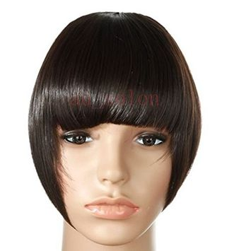 S-noilite Neat/Side Fringe Clip in Front Fringe Hair Extensions Black Blonde Brown Auburn Bangs Hairpiece for Women Lady Girl
