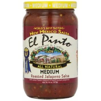 El Pinto Jalapeno Salsa, Medium Roasted, 16 Ounce (Pack of 6)