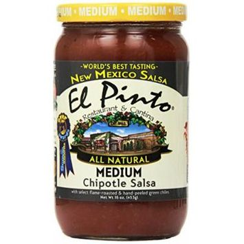 El Pinto Chipotle Salsa, Medium, 16 Ounce (Pack of 6)