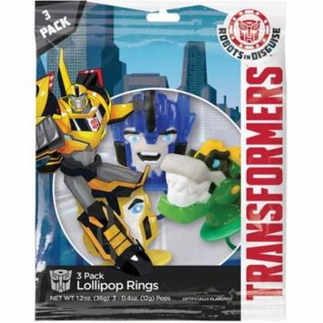 Transformers Shaped Ring Lollipops, 3 count, 1.2 oz