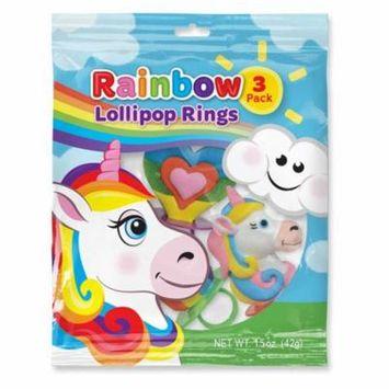 Unicorn and Rainbow Lollipop Rings (3 Count)