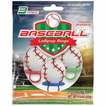 Baseball Lollipop Rings (3 Count)