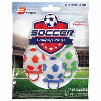 Soccer Lollipop Rings (3 Count)