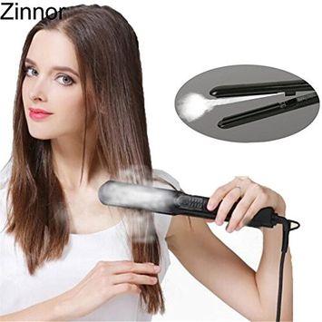 Zinnor Professional Steam Hair Straightener Vapor Straightening Irons Ceramic Flat Iron Temperature Control Fast Heating Hair For Dry & Wet Hair