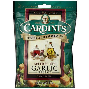 Cardini's Garlic Croutons, 5 oz (Pack of 12)