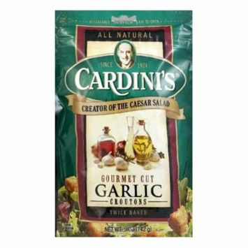 Cardini Croutons Garlic Gourmet Cut, 5 OZ (Pack of 12)