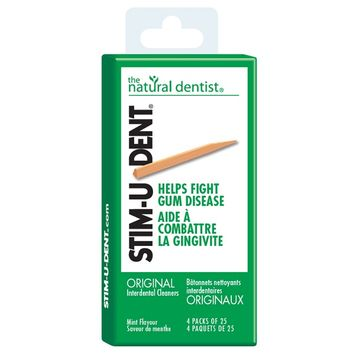The Natural Dentist Stim-U-Dent Thin Plaque Removers Mint