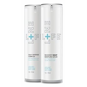 Daily Defense Complex/Recovery Night Moisture Serum by Lifeline Skin Care, 2-Pack, 1 oz. each