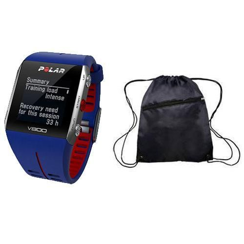 Polar - V800 GPS Sports Watch with Bag - Blue Red