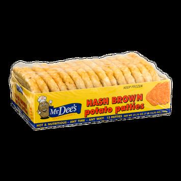 Mr. Dee's Hash Brown Potato Patties - 15 CT