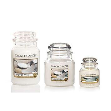 Yankee Candle Medium Jar Candle, Baby Powder [Baby Powder]