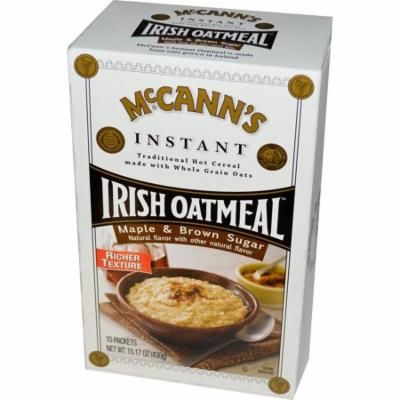 McCann's Irish Oatmeal, Instant Oatmeal, Maple & Brown Sugar, 10 Packets, 43 g Each(pack of 2)