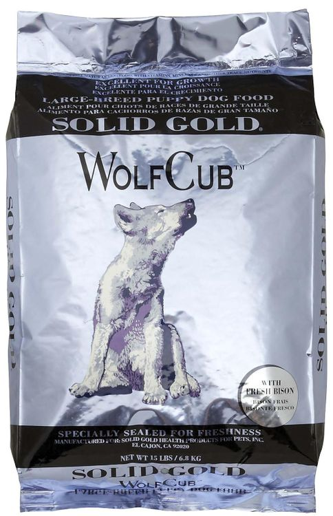 Solid Gold WolfCub Large Breed Puppy - Bison