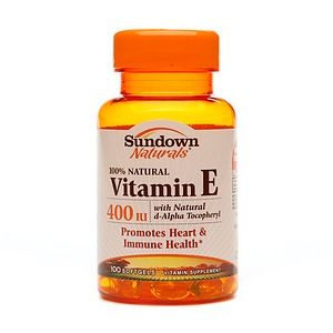 Sundown Vitamin C & E Sundown Naturals Vitamin E with Natural d-Alpha Tocopheryl, 400 IU