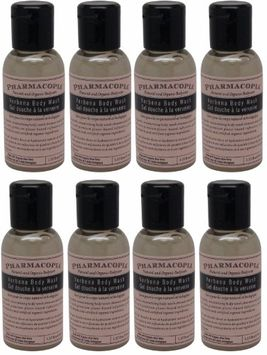Pharmacopia Verbena Body Wash lot of 8 each 1.1oz bottles.8oz (Pack of 8)