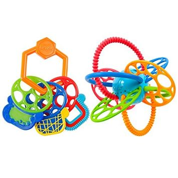 Oball Grip and Teethe Keys with Flexi Loops Teether