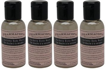 Pharmacopia Verbena Body Wash lot of 4 each 1.1oz bottles.4oz (Pack of 4)