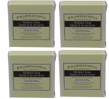 Pharmacopia Verbena Body Soap lot of 1.5oz bars. Total of 6oz (Pack of 4)