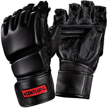Century Martial Arts Men's Leather Wrap Gloves with Clinch Strap™ From Century