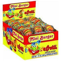Gummy Burgers & Hot Dogs Mini Gummi Burger