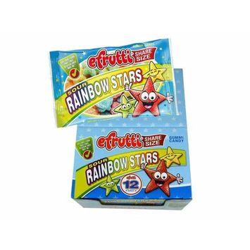efrutti Share Size Sour Rainbow Stars Gummi Candy, 1.8 Ounce Bags - 12 Bags [Rainbow Stars]
