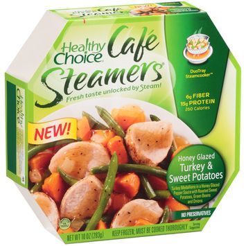 Healthy Choice Café Steamers Healthy Choice Cafe Steamers Honey Glazed Turkey and Sweet Potatoes Frozen Entree, 10 oz