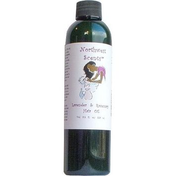 Northwest Scents Lavender and Rosemary Hair Oil for Black, African American, Afro Caribbean, Dry, Coarse, and Highly Textured Hair - 8.5 oz bottle