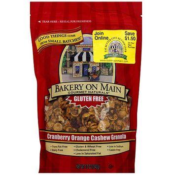Bakery On Main Gourmet Naturals Cranberry Orange Cashew Granola, 12 oz (Pack of 6)