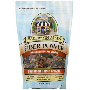 Bakery On Main Gourmet Naturals Fiber Power Cinnamon Raisin Granola, 12 oz (Pack of 6)