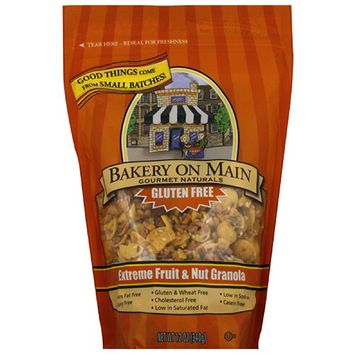 Bakery on Main Gourmet Naturals Gluten Free Extreme Fruit & Nut Granola, 12 oz, (Pack of 6)