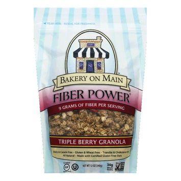 Bakery on Main Triple Berry Fiber Power Granola, 12 OZ (Pack of 6)