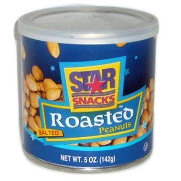 805748 Star Snacks Rstd Peanuts Sltd 5Oz Can (24-Pack) Seeds Cheap Wholesale Discount Bulk Snacks Seeds Air Freshener