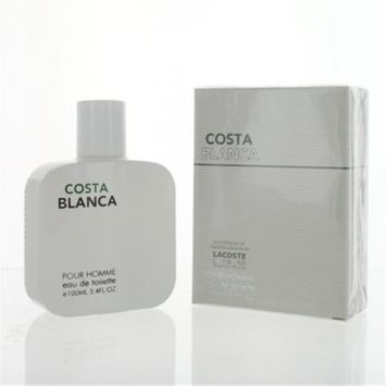 Eurolux ZZMEFCOSTABLANCA34T Costa Blanca By Eau De Toilette Spray New in Box for Men 3.4 oz.