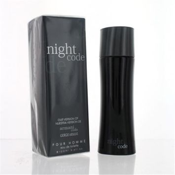 Eurolux ZZMEFNIGHTCODE3.4EDT Night Code Eau De Toilette For Men