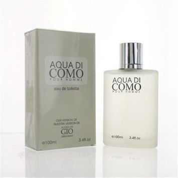Eurolux ZZMEFAQUADICOMO34EDT Aqua Di Como By Eau De Toilette Spray New in Box for Men 3.4 oz.