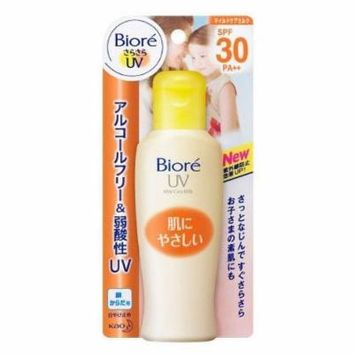 Bioré SARASARA UV Mild Care Milk Sunscreen 120ml.