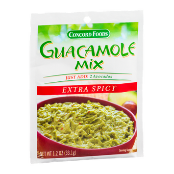 Concord Foods Guacamole Mix Extra Spicy