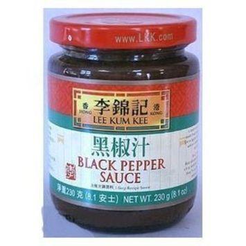 DragonMall Seasonings Lee Kum Kee Black Pepper Sauce, 8.1-ounce Jars (Pack of 3)