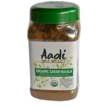 Aadi Organics 2-PACK - All Organic Indian Garam Masala Powder - 12oz / 340g - Cooking, Kitchen Use, Flavoring Herbs and Spices - Stays Fresh
