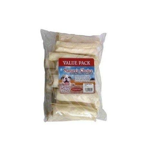 Loving Pets Dog Supplies Rawhide 4&Quot; White Retriever Rolls 13Pk - Value Pack