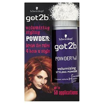 Schwarzkopf got2b POWDERful Volumising Styling Powder, volume booster for texture & hairstyles with volume, powder for style & finish, pack: 6 x 10g [Pack of 6]