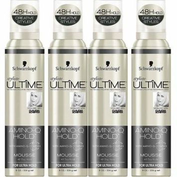 4 Schwarzkopf Styliste Ultime Haircare - Amino-Q Hold Mousse - Ultra Hold - All Day Hold