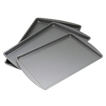 OvenStuff Non-Stick Set of Three Cookie Pans
