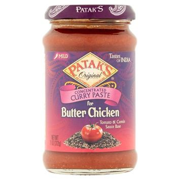 Patak's Original Concentrated Curry Paste for Butter Chicken, 11 oz
