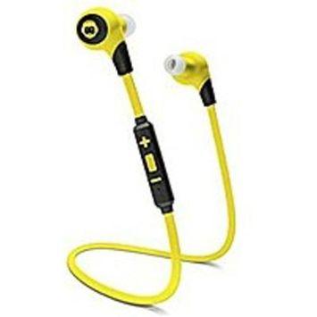 URGE Basics BKHC-25991-BYLW BK Sport Bluetooth 4.0 In-Ear Headset - Black/Yellow