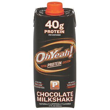 Iss 100717 17oz OhYeah Protein Powder Chocolate Milkshake 12Case