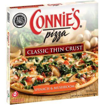 Connie's® Pizza Spinach & Mushroom Classic Thin Crust Pizza