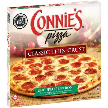 Connie's® Pizza Uncured Pepperoni* Classic Thin Crust Pizza