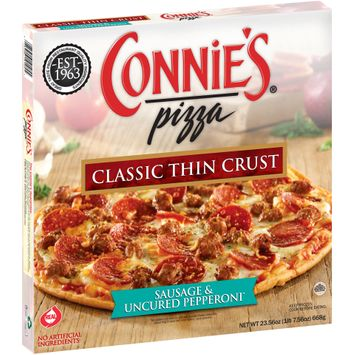 Connie's® Pizza Sausage & Uncured Pepperoni* Classic Thin Crust Pizza